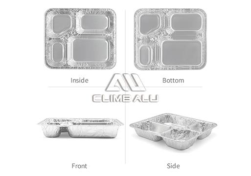4 compartment aluminium containers 1