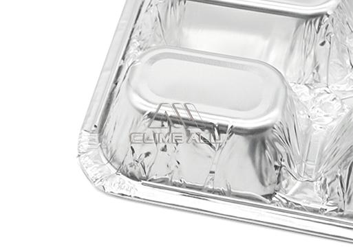 4 compartment aluminium foil containers