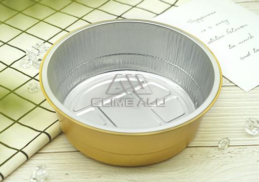 Color aluminum foil container