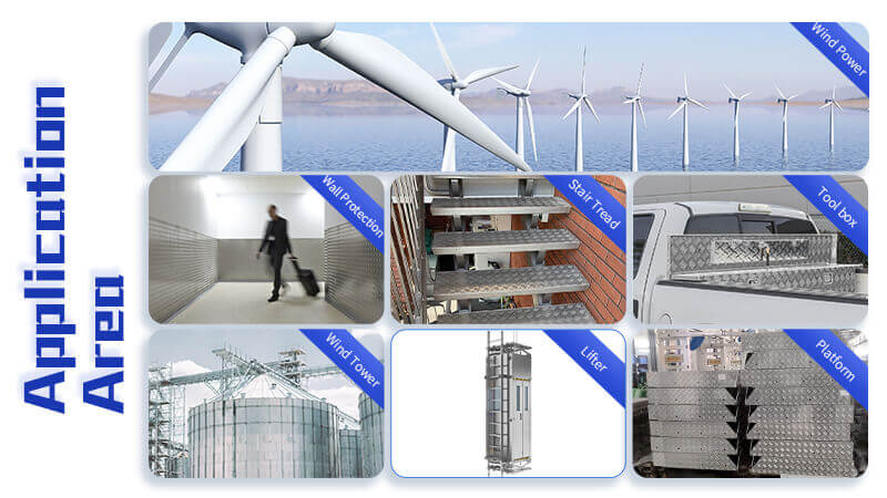 Aluminum checker plate for wind power generation